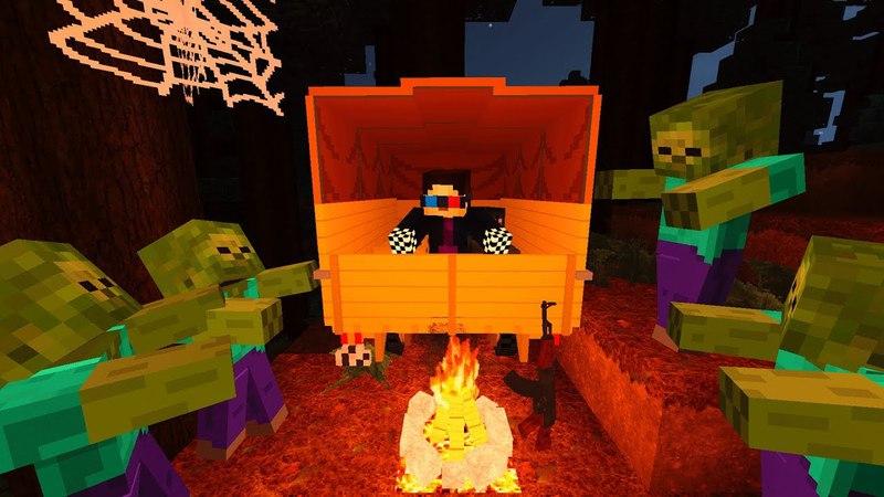 НОЧЬ В ЛЕСУ НОЧНОЙ КОШМАР ДЕНЬ 20 ЗОМБИ АПОКАЛИПСИС В МАЙНКРАФТ Minecraft Сериал