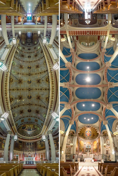 Подборка панорамных фото церквей Нью-Йорка. Автор: Richard Silver.