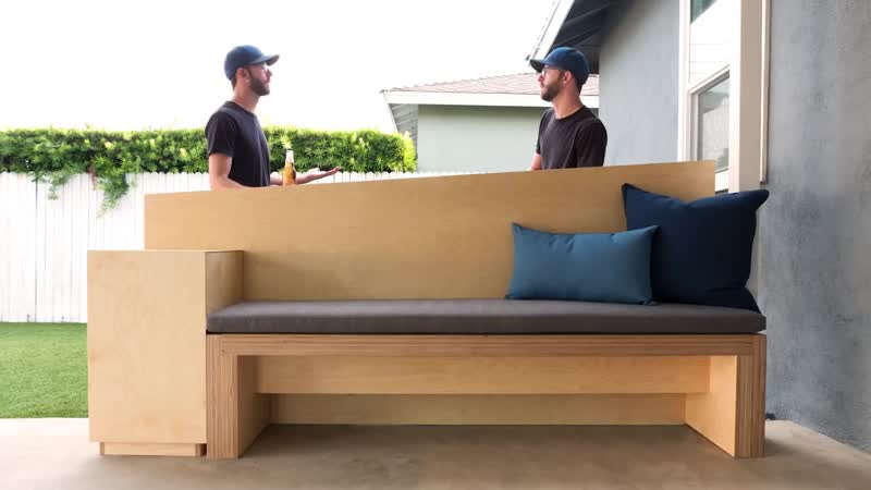 Outdoor Bench with Standing Height Table _ How To Build Patio Furniture _ Woodwo