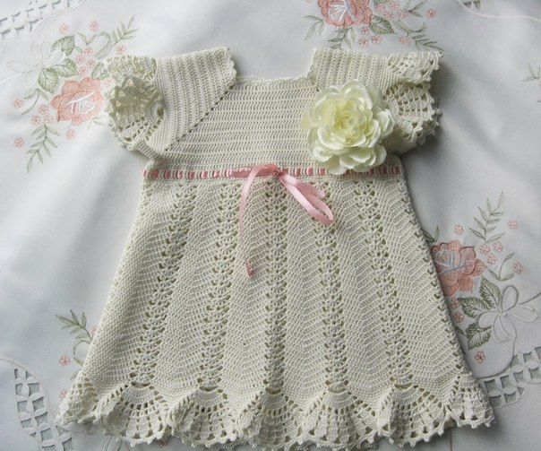 Платье для девочки крючком (6 фото) - картинка