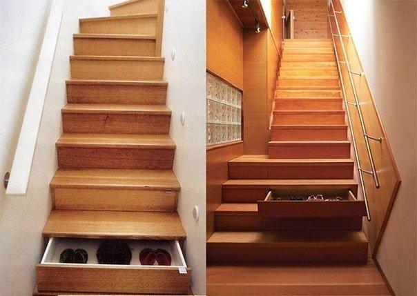 Функциональная лестница: вещам найдется место!… (1 фото) - картинка