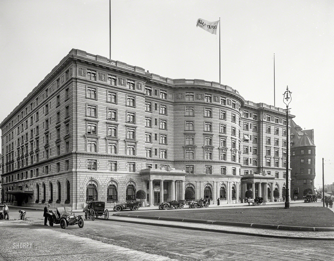 Copley Plaza Hotel на площади Копли, Бостон, штат Массачусетс, 1912.