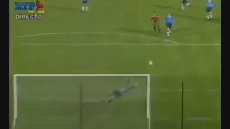 Все видели гол Фигу в ворота англичан но мало кто видел гол Футре в ворота Эстонии в 1993 м