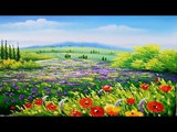 painting Flowers Step By Step - Wildflowers Acrylic Painting Tutorial