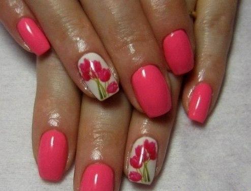 Аквариумны дизайн ногтей