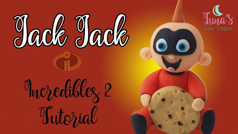 (vk.com/lakomkavk) Incredibles 2 Jack Jack Fondant Cake Topper Tutorial