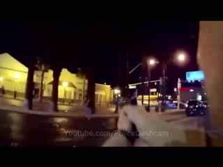 Полицейский застрелил пьяного с пистолетом, Лас Вегас, США. GoPro, ГоПро, ГоуПро, POV