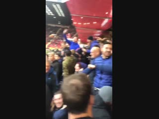 Scenes in the leeds end after the sheffield united keeper had a howler. lufc @igrattan