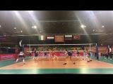 De Italianen komen dichterbij, maar de Russen weten ook de tweede set te winnen 23-25