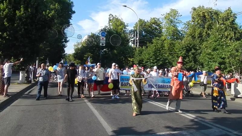 Парад дружбы народов 2018 (г. Краснодар, бурятская диаспора)