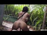 Sex with a black slut for money in the backyardСекс с черной шлюшкой за деньги на заднем двореPornoMandarinki18+