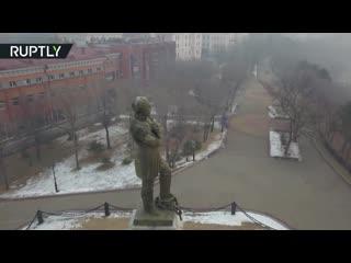 Хабаровск заволокло дымом из-за палов в Китае