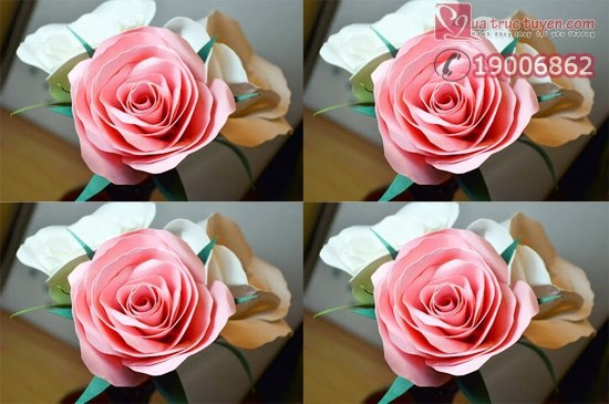 МК: Роза из бумаги (10 фото) - картинка