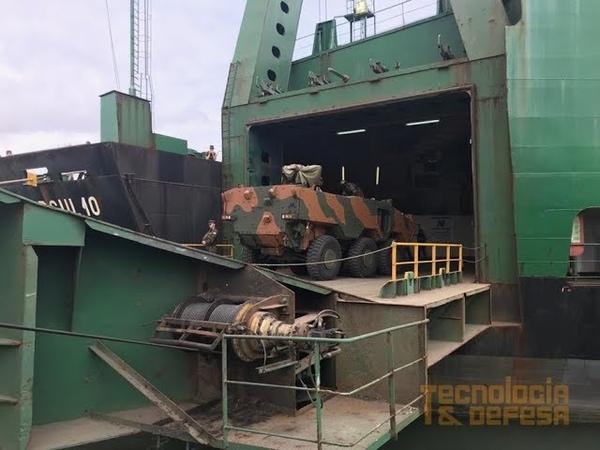 Operação Atlântico V Exército Brasileiro utilizando o modal marítimo em deslocamento