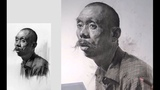 How to draw Old Man Portrait in Graphite Charcoal