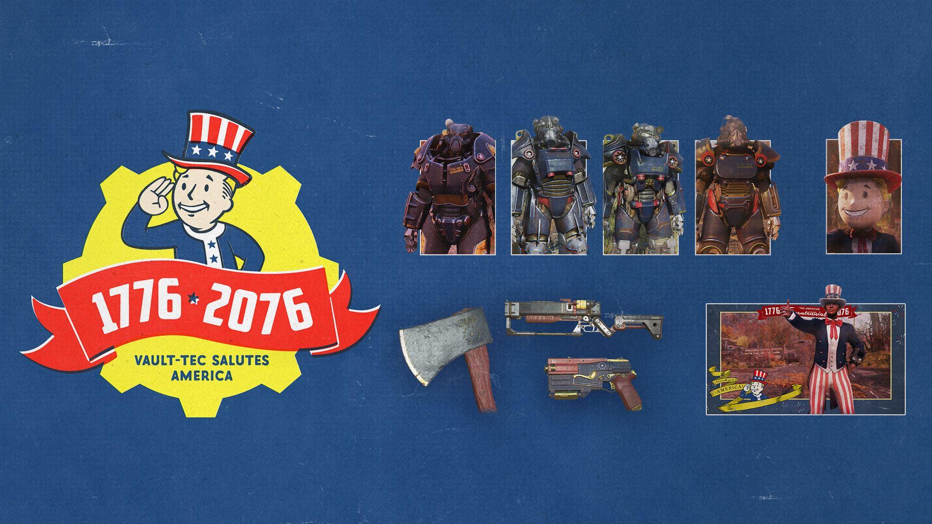 В продаже появился набор Tricentennial Pack для Fallout76 за 500 руб.