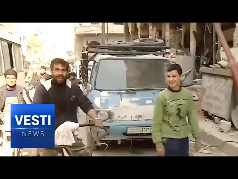Douma Begins to Return to Normal ISIS and NATO's Bombs Failed to Defeat the Syrians Living Here
