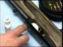 чистка спортивной винтовки. running a patch 22 rim-fire an air gun
