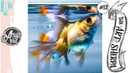 Easy Goldfish loose step by step Acrylic April day 12