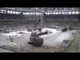 На строительстве стадиона Открытие Арена (27 декабря )