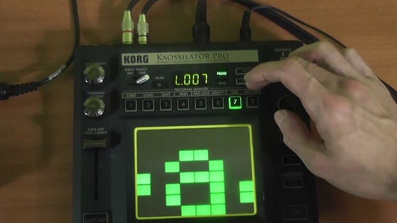 Korg kaossilator pro midi keyboard (MIDI WORKER)