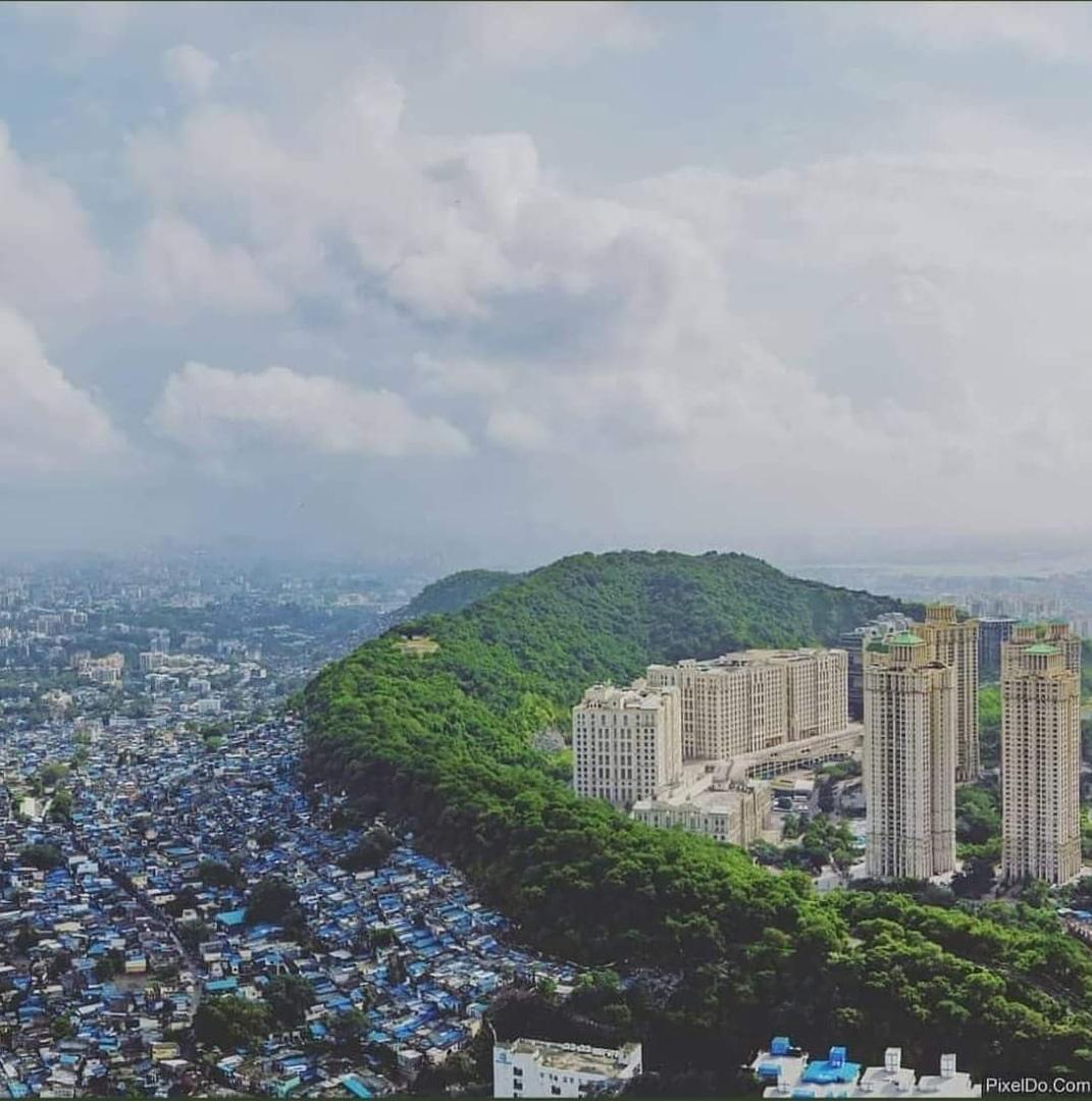 Богатые и бедные районы Мумбаи.