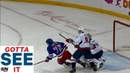 GOTTA SEE IT: Rangers' Filip Chytil Makes An Unreal No Look, Backhand Assist While Falling Down