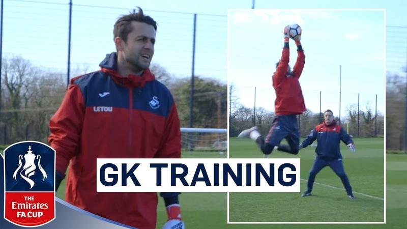 Swansea Goalkeepers Prepare for Tottenham   Goalkeeper Training   Emirates FA Cup 201718