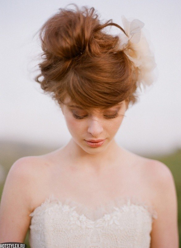 Красивые причёски на средние волосы фото для девочек - 85