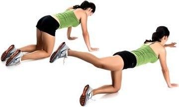 Упражнения для здоровой спины и красивых ягодиц… (6 фото) - картинка