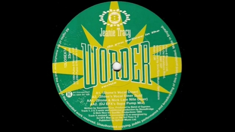 Jeanie tracy ★ do you believe in the wonder ★ stone s vocal diner dub ★ casa loco ★ niche