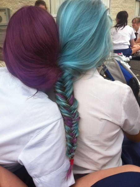 Разноцветные волосы картинки - 7