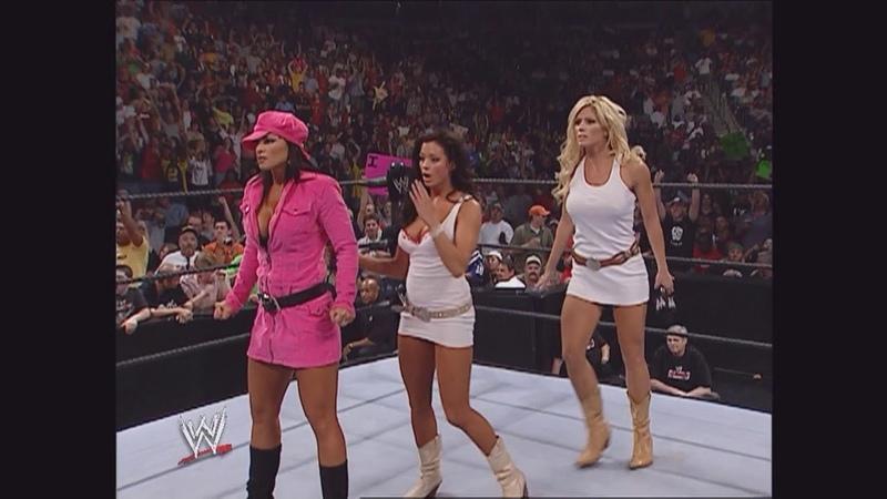 Torrie Wilson, Trish Stratus, Candice Michelle, Ashley Victoria Segment: Raw, Sept. 12, 2005