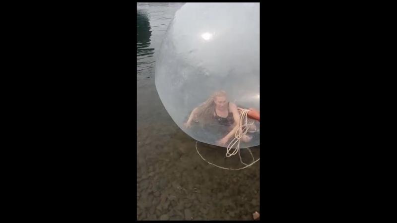 Аттракцион Почувствуй себя белкой в колесе 😂 Иркутск ледокол Ангара активный летний отдых 😉
