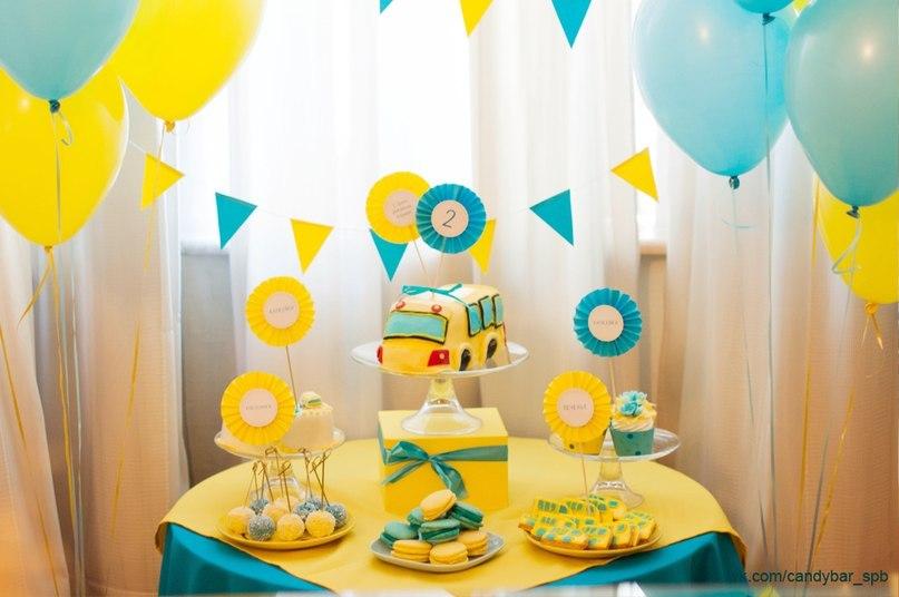 Оформление детского стола на день рождения своими руками