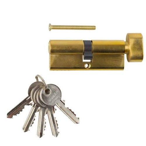 "Механизм ""МАСТЕР"" цилиндровый, тип ""ключ-защелка"", 5-PIN   ЗУБР"