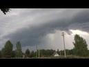 Гроза со шквалом и сильным ливнем в Ярославле 30 июня 2018 г.