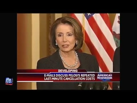 Tom Fitton in 2009 Nancy Pelosi Repeatedly Brings Family Members on Military Airplanes