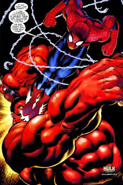 человек паук против халка