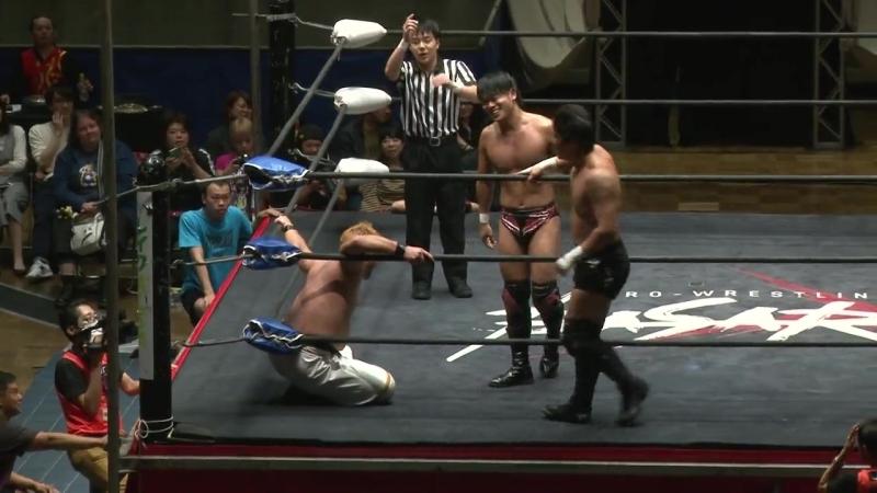 Kazuki Hashimoto, Tatsuhiko Yoshino vs. Takumi Tsukamoto, Toru Sugiura (BASARA - Vajra 78 ~ Luyang no Hoko)