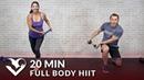 20-минутная тренировка всего тела ВИИТ с гантелями. 20 Min Full Body HIIT at Home with Dumbbells - Total Body 20 Minute HIIT Workout with Weights