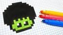 Handmade Pixel Art - How To Draw a Hulk Mushroom pixelart