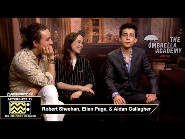 Robert Sheehan Klaus Ellen Page Vanya Aidan Gallagher Five Netflix's The Umbrella Academy