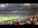 Матч Россия-Хорватия. Второй Забитый мяч. Ликование топы