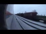High-speed trainsurfing 250 km/h in Russia / Зацепинг на Сапсане СПБ-МСК (2 way)