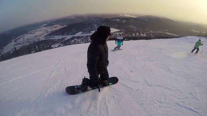 Шерегеш 2016. Первый раз на сноуборде. ДВИЖПАРИЖ - 18