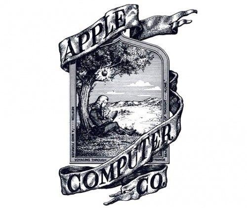 Логотип Apple в 1976 году представлял собой изображение Исаака Ньютона