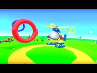 Spanish Cartoons- Zeem Zoom - Helicóptero y los Anillos- Caricaturas de carros para niños