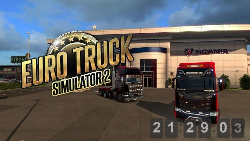 Подробно разбираем обновление v.1.32 и катаем в Euro Truck Simulator 2   Logitech g27 в кокпите