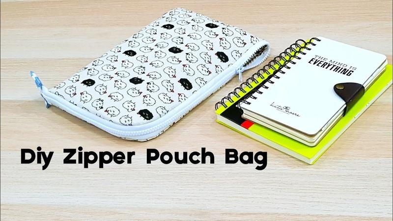 Diy Zipper Pouch Bag to storage my notebook【笔记本收纳包教学】HandyMum❤❤